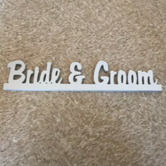 Other - Bride and groom sign
